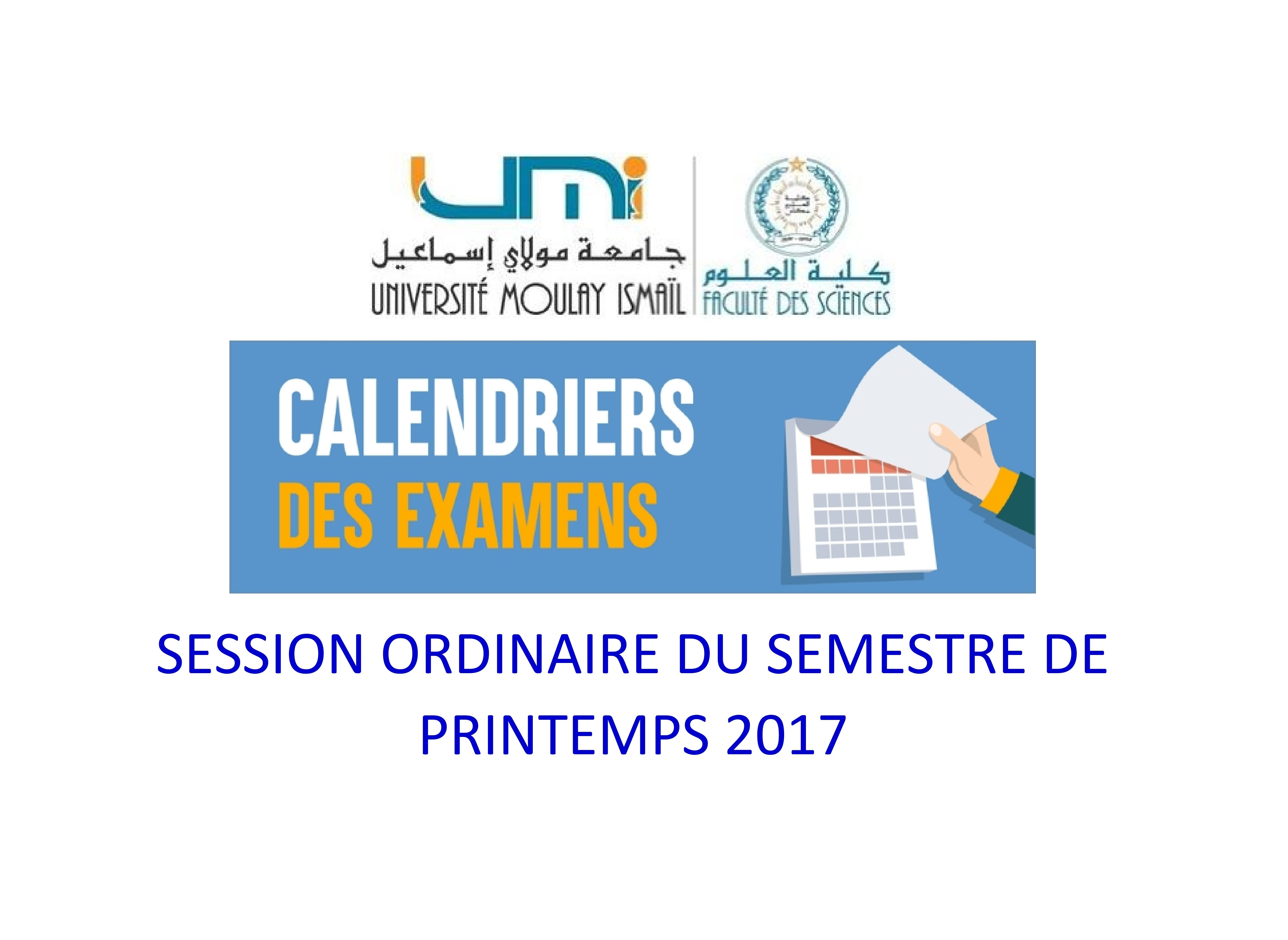 Calendrier Des Examens Sciences Po.Calendrier Des Examens Licences Fondamentales De La