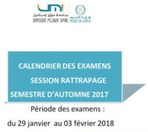 Calendrier Des Examens Sciences Po.Calendrier Des Examens De La Session De Rattrapage Automne