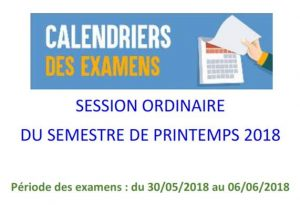 Calendrier Des Examens Sciences Po.Calendrier Des Examens De La Session Ordinaire Du Semestre