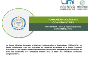 FORMATION DOCTORALE COMPLEMENTAIRE