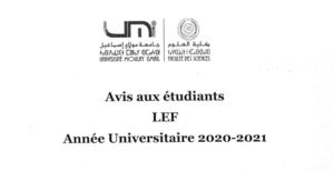 Read more about the article Avis aux étudiants-LEF