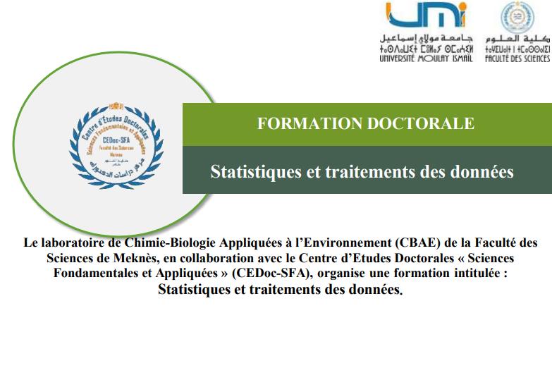 FORMATION DOCTORALE-Statistiques et traitements des données