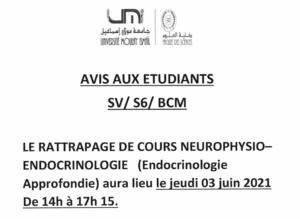 Read more about the article Avis aux étudiants SV6-BCM