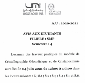 Read more about the article Avis aux étudiants SMP4