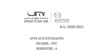AVIS AUX ÉTUDIANTS STU 6